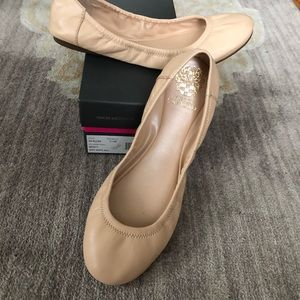 Worn Once! Vince Camuto Ellen Leather Flats